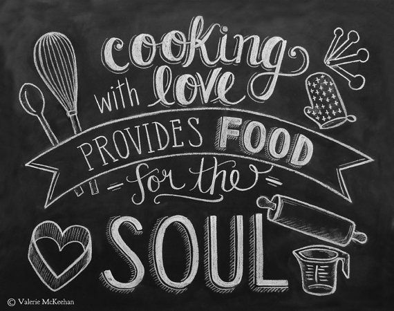 Enjoy the meal and have a nice day clipart chalkboard graphic free download Kitchen Print - Chalkboard Art - Food Quote - Foodie Gift - Kitchen ... graphic free download
