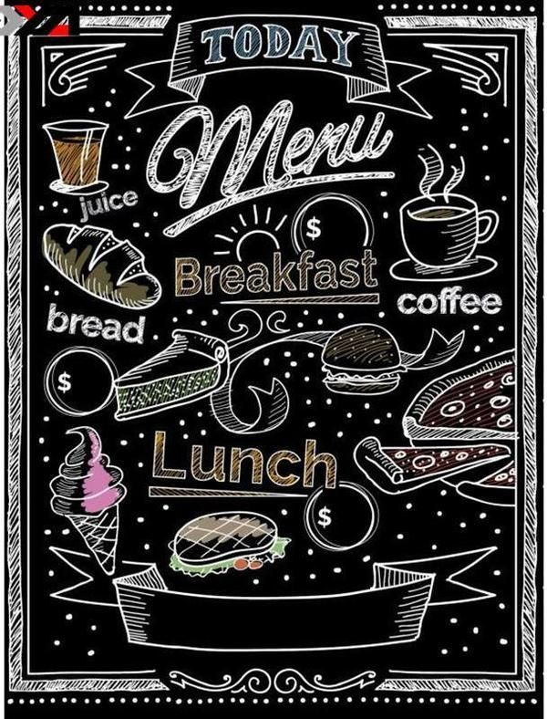 Enjoy the meal and have a nice day clipart chalkboard clip art royalty free Food Menu Square Diamond Painting | Restaurant | Blackboard menu ... clip art royalty free