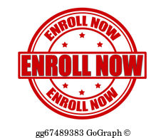 Enroll now clipart jpg black and white library Enroll Now Clip Art - Royalty Free - GoGraph jpg black and white library