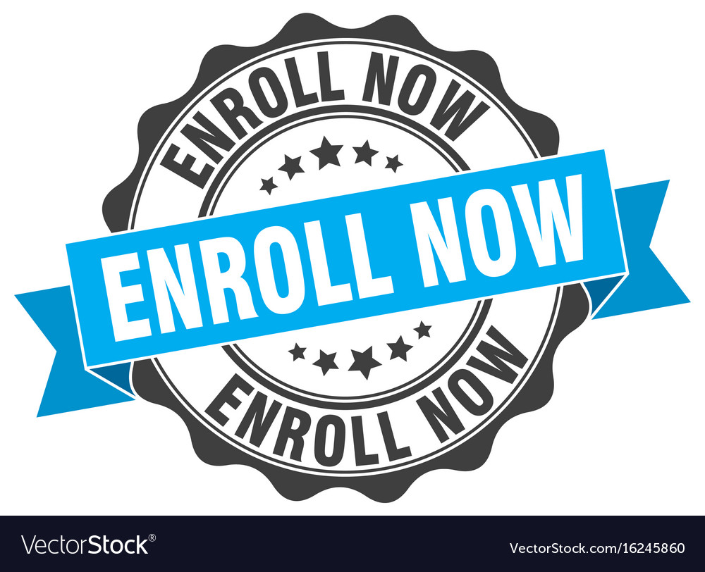 Enroll now clipart banner free download Enroll now stamp sign seal vector image banner free download