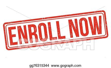 Enroll now clipart graphic black and white library EPS Illustration - Enroll now stamp. Vector Clipart gg76315344 - GoGraph graphic black and white library