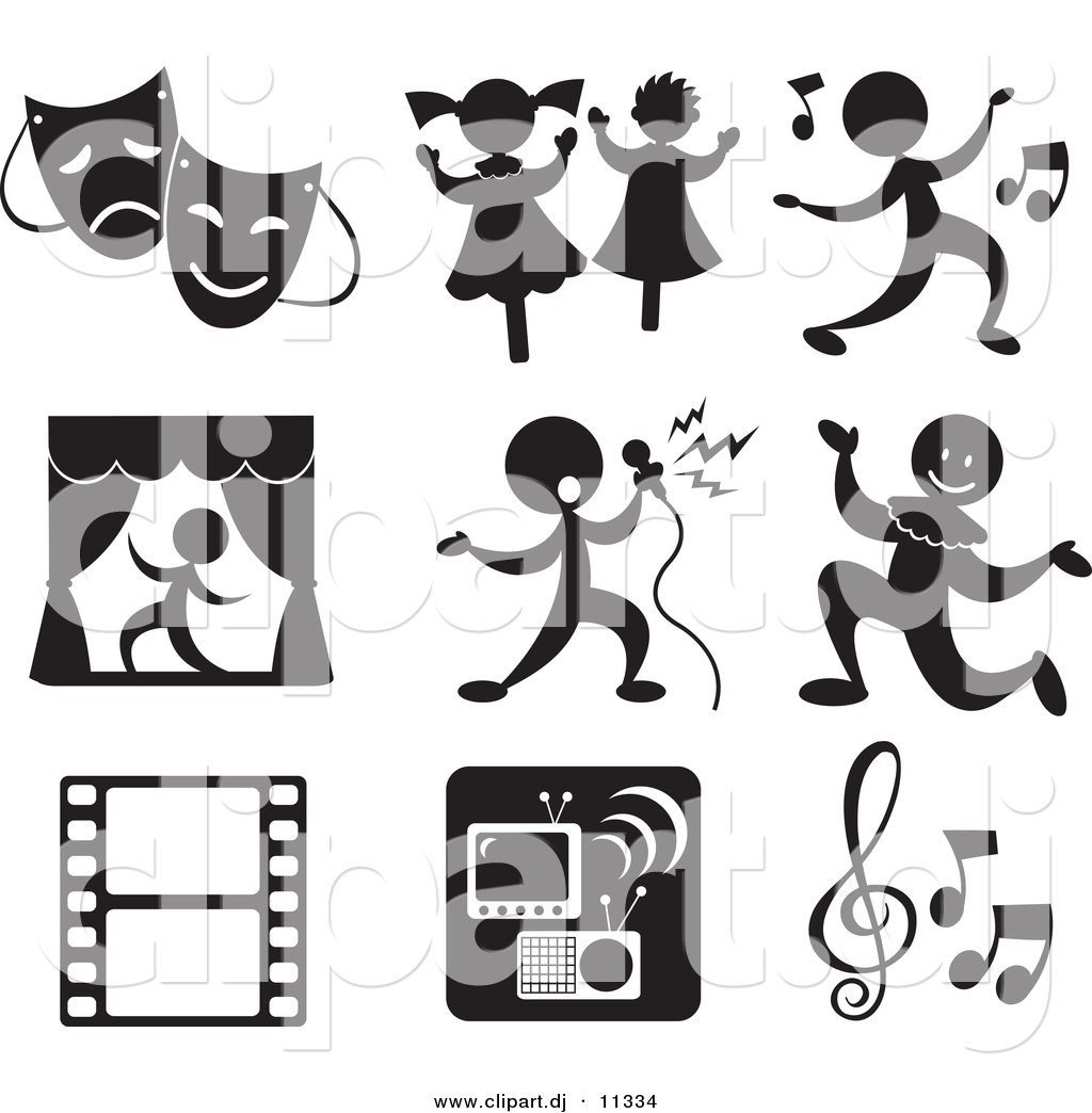 Entertainment images clipart png black and white Entertainment clipart 8 » Clipart Station png black and white