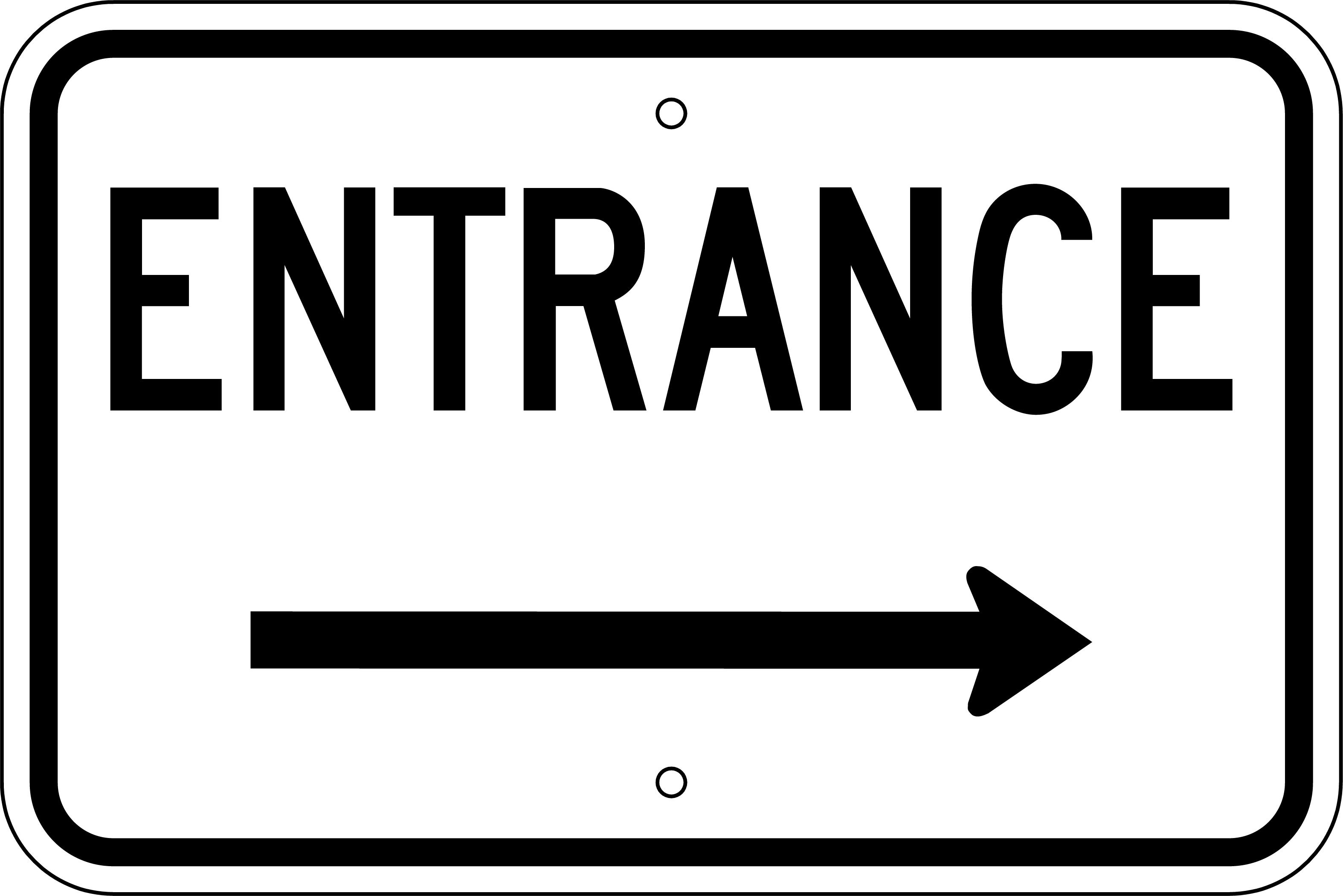 Entrance left arrow clipart