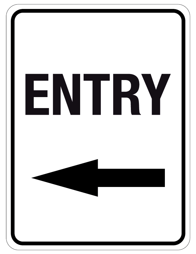Entrance left arrow clipart picture library stock Directional Traffic Signs Entry Left Arrow picture library stock