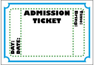 Entrance ticket clipart picture Event Invoice Admission Ticket Template Templates Free Download ... picture