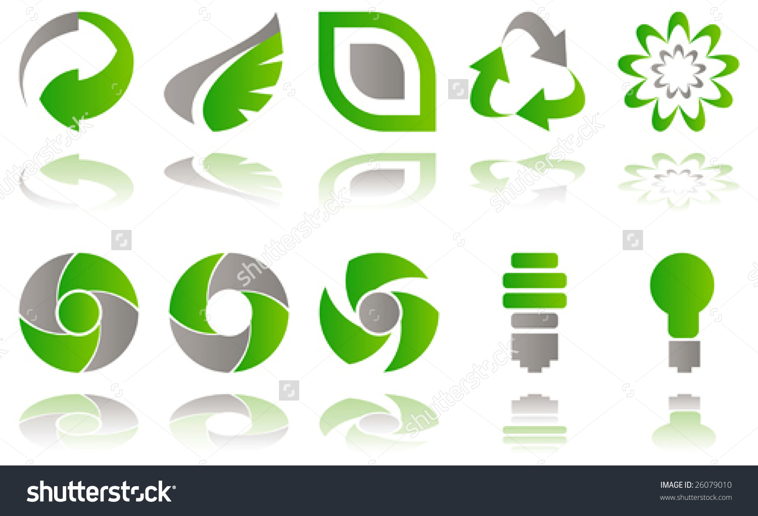 Vector Set Environmental Awareness Icons Isolated Stock Vector ... clip black and white