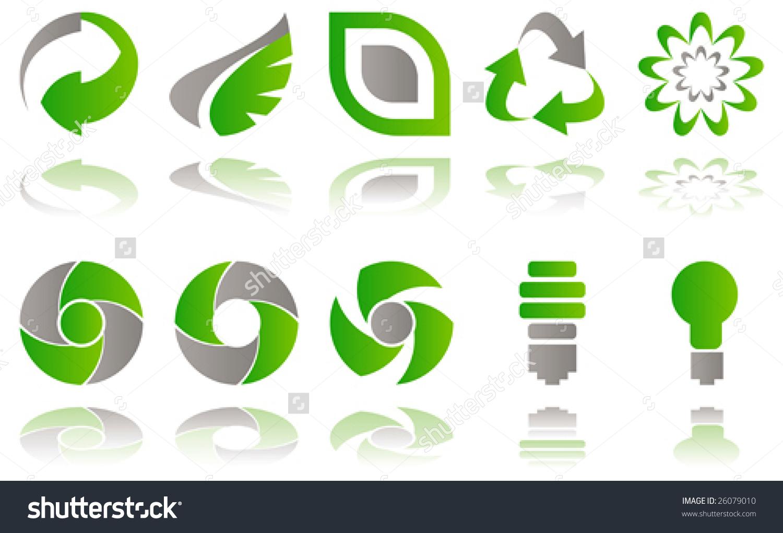 Environmental awareness clip art clip black and white Vector Set Environmental Awareness Icons Isolated Stock Vector ... clip black and white