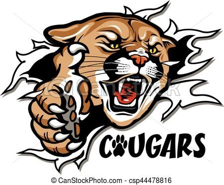 Royalty free clipart icons jpg transparent Vector - cougars mascot - stock illustration, royalty free ... jpg transparent