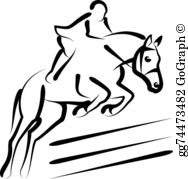Equestrian clipart free banner stock Equestrian Clip Art - Royalty Free - GoGraph banner stock