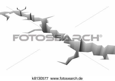 Erde boden clipart clipart royalty free stock Stock Illustration - erde, boden, riß, auf, white., Earthquake ... clipart royalty free stock