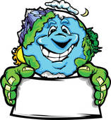 Erde clipart png Clip Art of Happy Planet Earth Holding Recycle k8994859 - Search ... png