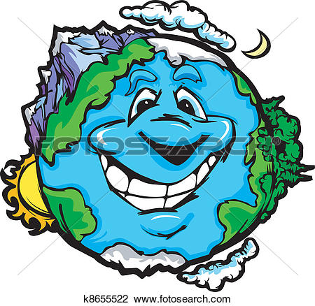 Erde clipart graphic royalty free stock Clipart of Happy Smiling Planet Earth k8655522 - Search Clip Art ... graphic royalty free stock