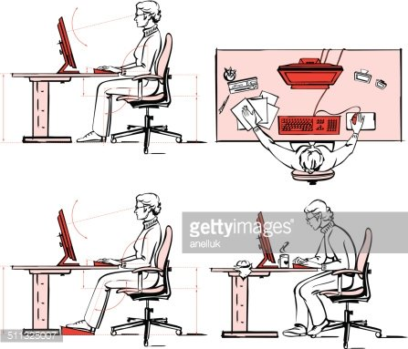 Ergonomic pictures clipart royalty free stock Ergonomic of Computer Workplace 2 premium clipart - ClipartLogo.com royalty free stock