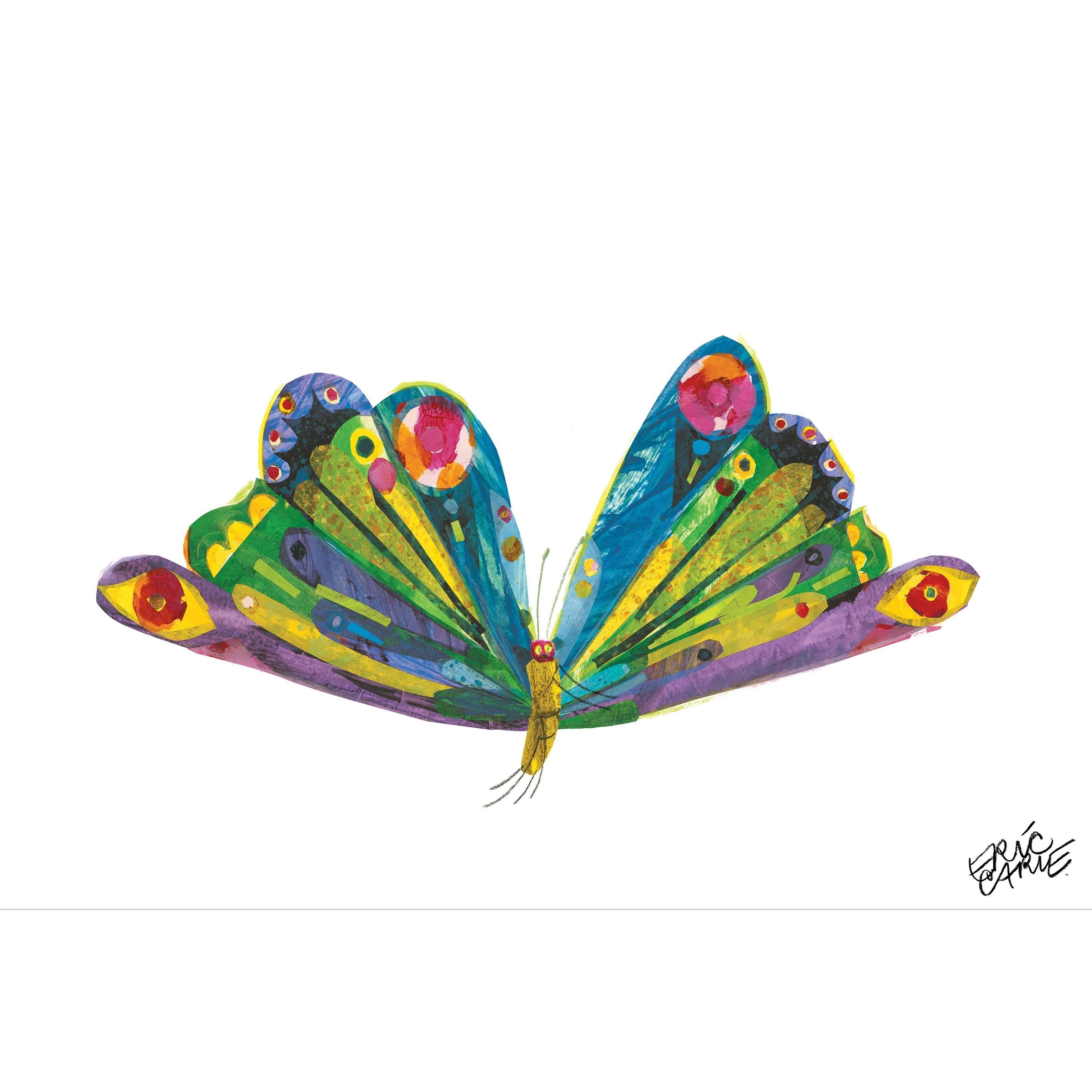 Eric carle butterfly clipart jpg black and white This bold and colorful canvas print features Eric Carle\'s Butterfly ... jpg black and white