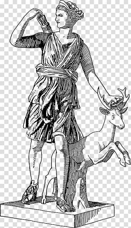 Eris greek mythology clipart black and white vector free stock Artemis Triple Goddess Greek mythology , Goddess transparent ... vector free stock