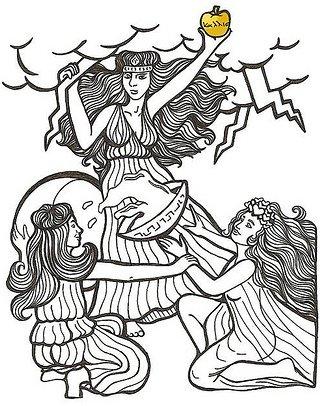 Eris greek mythology clipart black and white graphic freeuse library Apple of Discord - TV Tropes graphic freeuse library