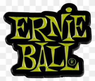 Ernie ball clipart vector black and white library Ernie Ball Green Stacked Logo Enamel Pin Front - Ernie Ball Clipart ... vector black and white library