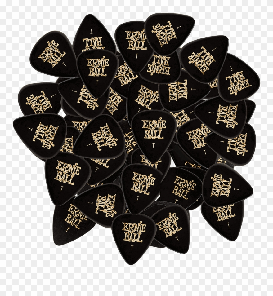 Ernie ball clipart vector royalty free Thin Black Cellulose Picks, Bag Of - Ernie Ball Inc. - Thin Black ... vector royalty free
