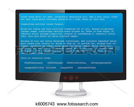 Error message clipart banner black and white download Clipart of Black tft monitor with error message k6005743 - Search ... banner black and white download