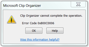 Error message clipart image free stock Cannot insert some clip art images using Word 2010 - Error code ... image free stock