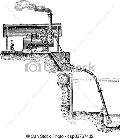 Erschpft arbeit clipart picture transparent stock Vektor Clipart von angewandt, arbeit, Weinlese, Pumpe, erschöpfung ... picture transparent stock