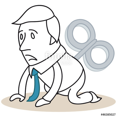 Erschpft arbeit clipart jpg free library Geschäftsmann, Aufziehmotor, Überstunden, erschöpft