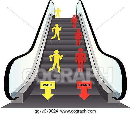 Escalators clipart image freeuse stock EPS Illustration - Escalators. Vector Clipart gg77379024 - GoGraph image freeuse stock