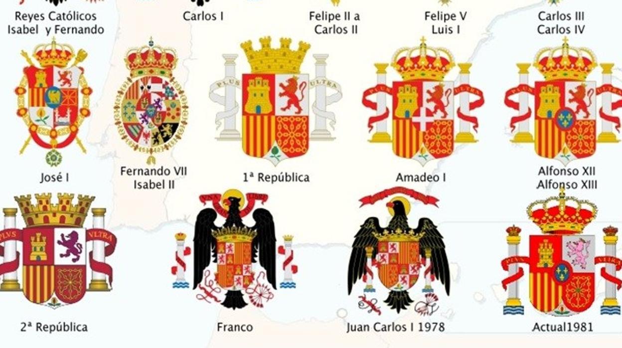 Escudo de espa a clipart vector freeuse library La verdadera historia de los escudos de España: más de 500 años ... vector freeuse library