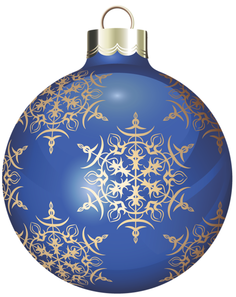 Esferas navide as clipart jpg transparent library Transparent Blue and Gold Christmas Ball Clipart | png veci ... jpg transparent library