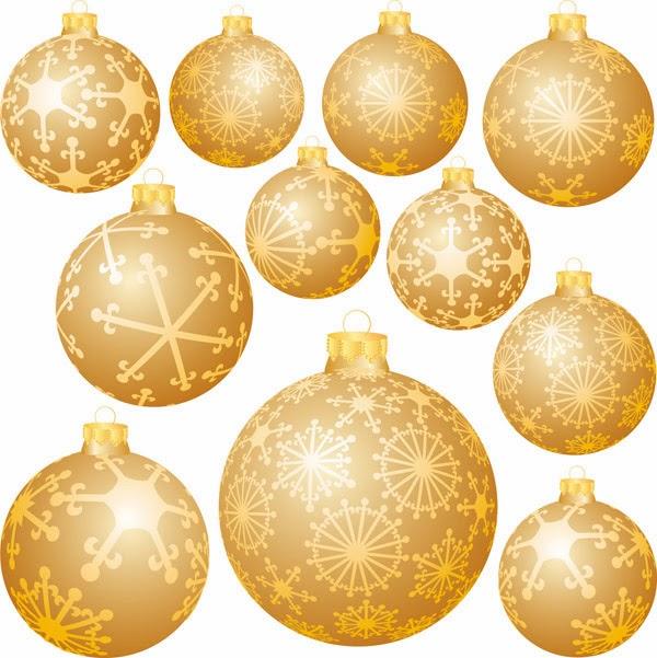 Esferas de navidad clipart vector freeuse download Vector Clipart: Bolas navideñas doradas - Vector vector freeuse download