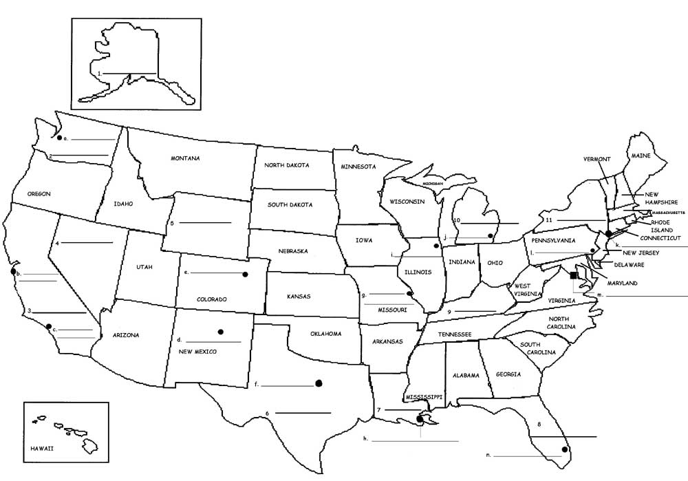 Esl vacation map clipart black and white png stock Geography - The USA : General Resources for ESL Students png stock