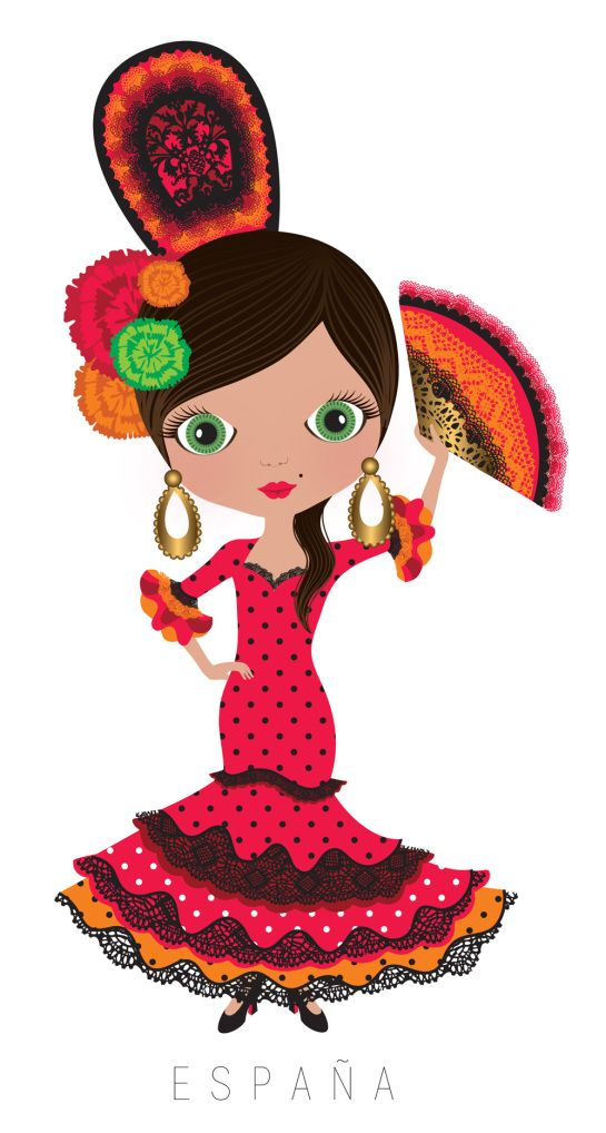 Espana clipart picture royalty free library espanha | Decoupage | Flamenco dancers, Clip art, Illustration art picture royalty free library
