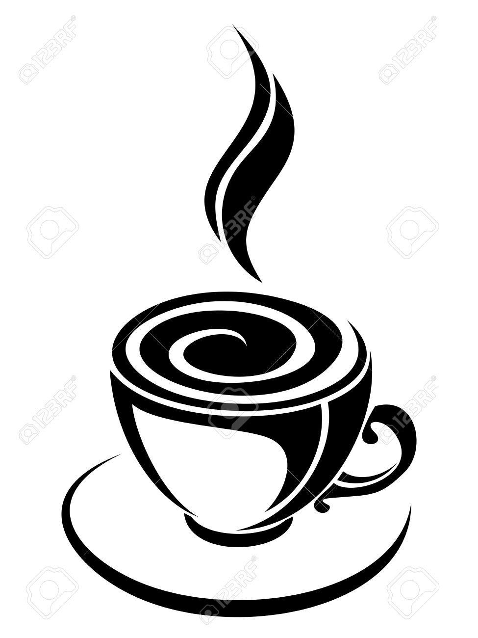 Espresso cup clipart clip coffee silhouette | Project Lab | Tribal tattoos, Coffee, Pencil ... clip