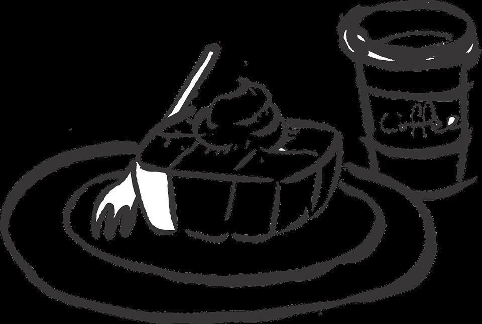 Essen bilder clip art clip art free Kaffee Und Kuchen PNG Schwarz Weiss Transparent Kaffee Und Kuchen ... clip art free