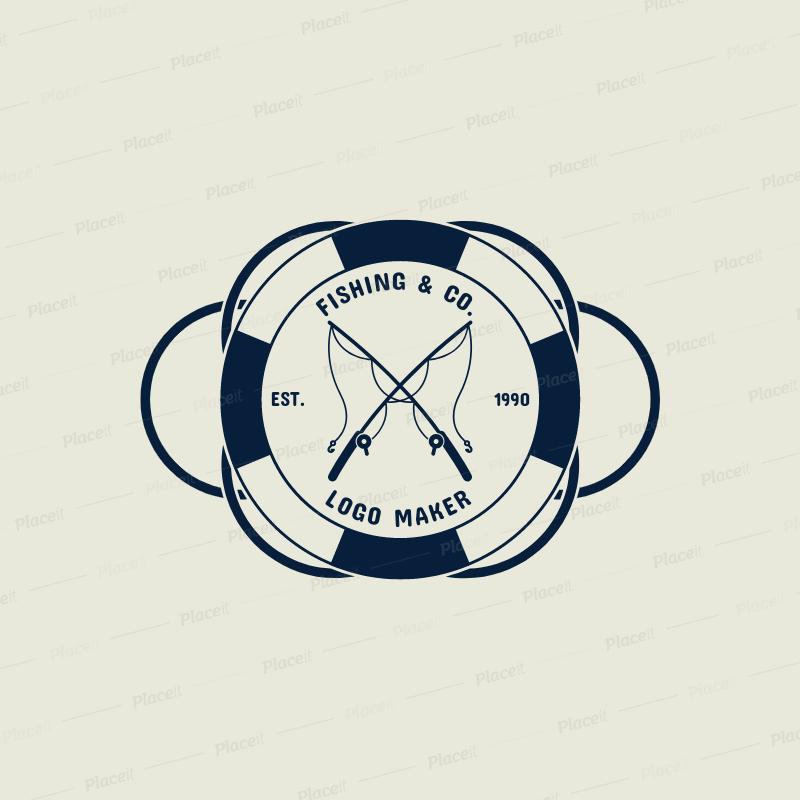 Est logo clipart picture library download Fishing Logo Maker with Simple Fishing Clipart 1796 picture library download