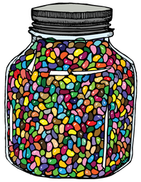 Estimation of jelly beans in a jar clipart image black and white library ESTIMATING - Lalor Primary School image black and white library