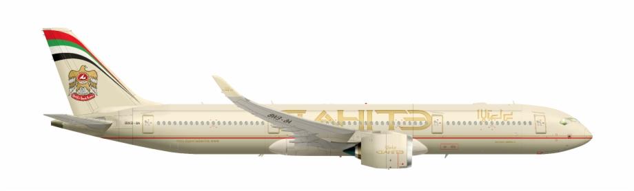 Etihad clipart clip A350xwb-941 Etihad Airways Flipped - Etihad Airbus Png, Transparent ... clip