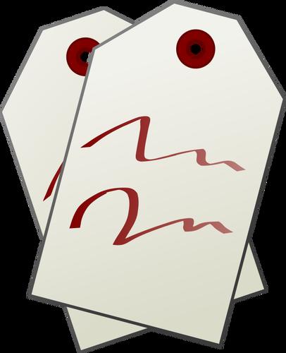 Etiquetas vector clipart image download Dos etiquetas Vector Clip Art | Vectores de dominio público image download