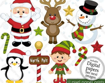 Etsy christmas clipart image black and white library Christmas clipart etsy for free download and use images in ... image black and white library