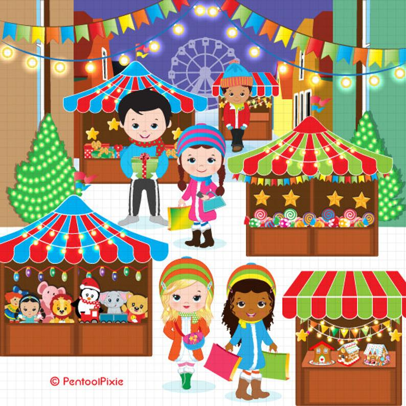 Etsy christmas clipart jpg black and white stock Christmas Clipart Market Winter Shopping Etsy Classy Clip Art New 4 ... jpg black and white stock