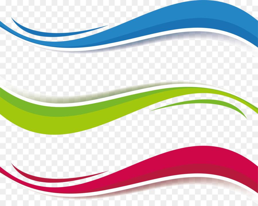 Euclidean vector clipart clip transparent download Euclidean vector Clip art - Tricolor wave title box clip transparent download