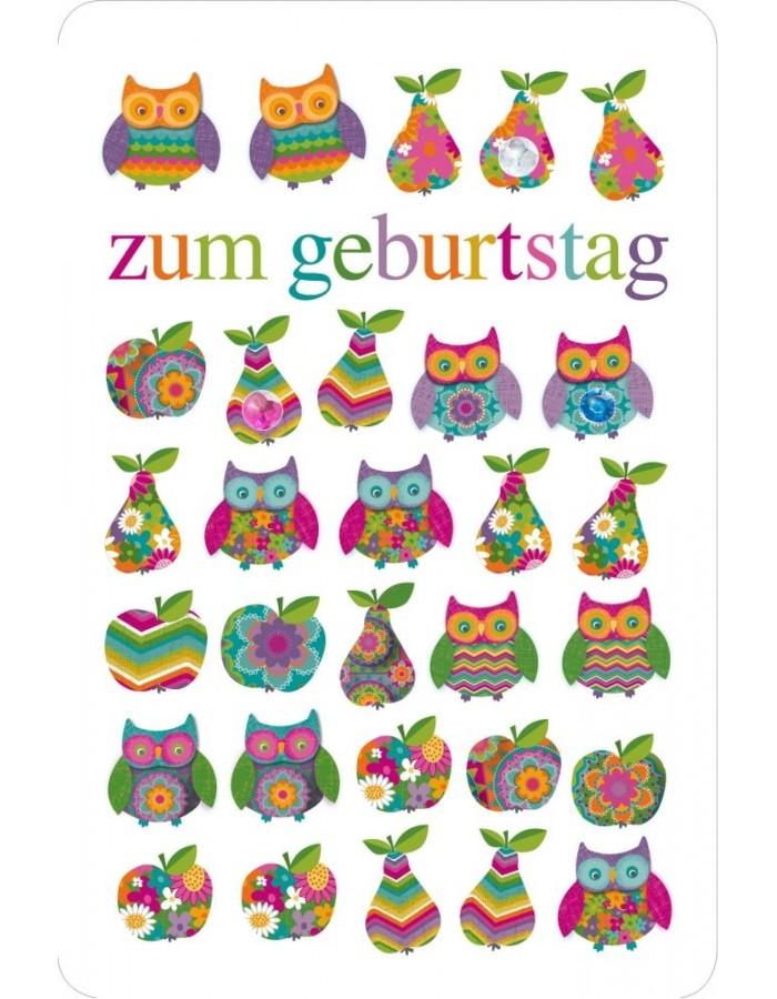 Artebene Karte Geburtstag/Eule/Glitter ARTEBENE | fotoalben ... banner black and white