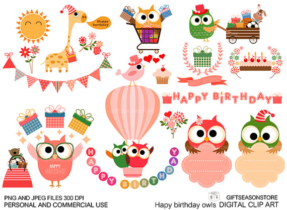 Eule clipart geburtstag - ClipartFest picture freeuse library