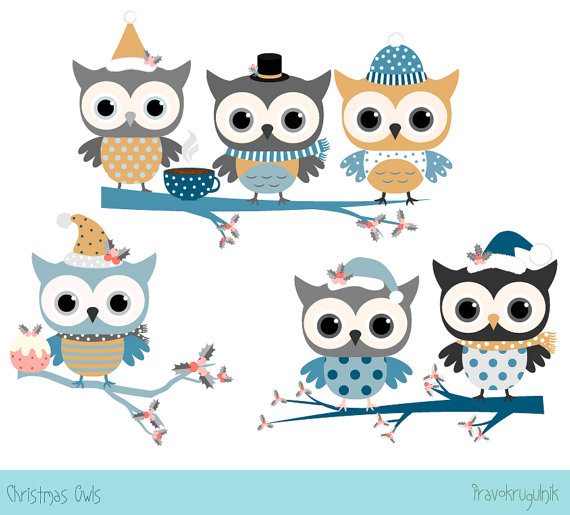 Eule clipart geburtstag clip library library Owl clip art   Etsy clip library library
