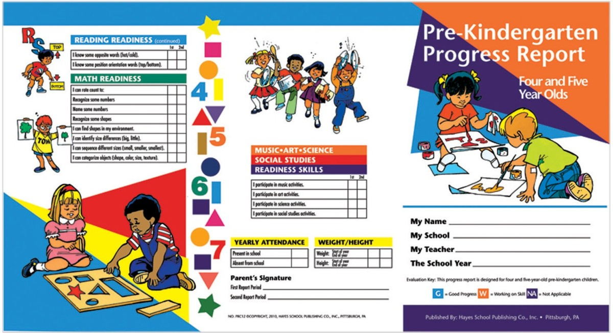 Eureka math straws clipart banner library stock Pre Kindergarten Progress Report 10 Ct (4 & 5 Year Olds) banner library stock