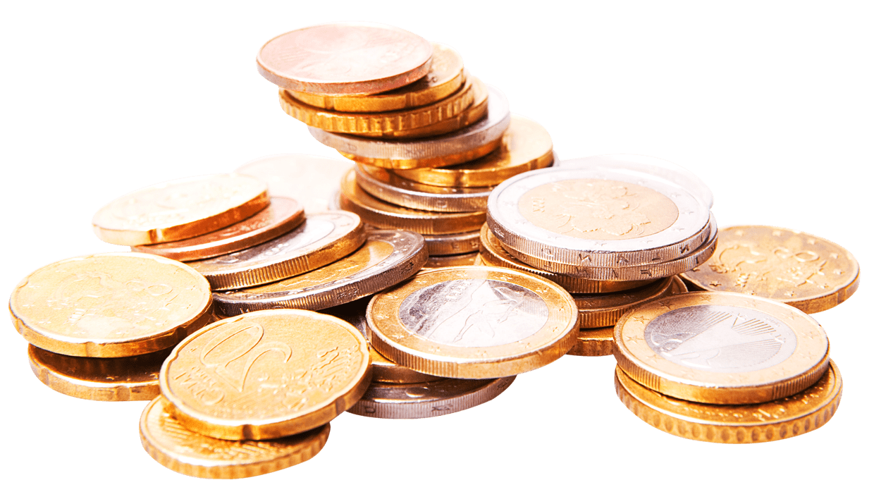 Euro money clipart png royalty free stock Stack Of Euro Coins transparent PNG - StickPNG png royalty free stock