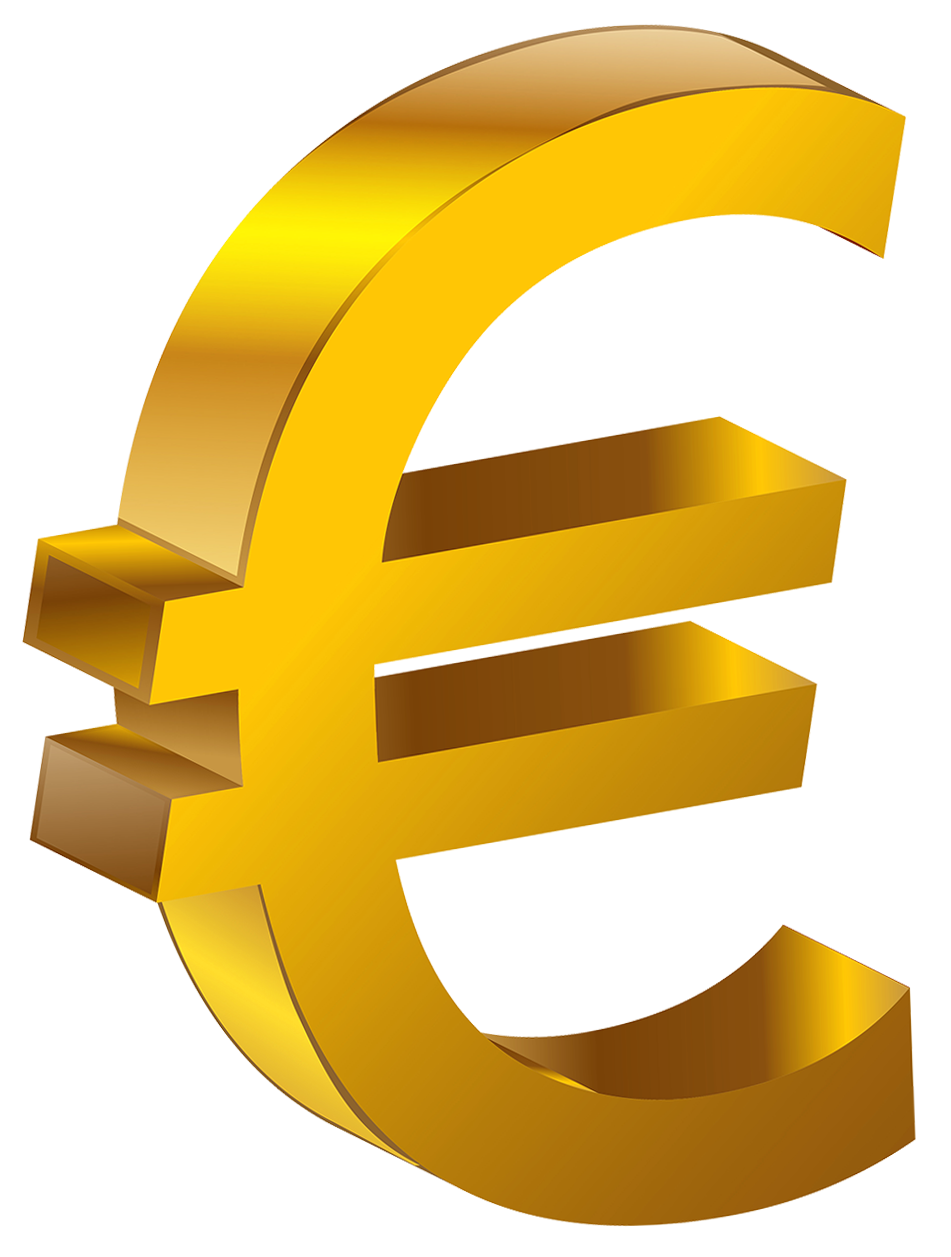 Euro money clipart vector royalty free library Transparent Gold Euro PNG Clipart | Gallery Yopriceville - High ... vector royalty free library
