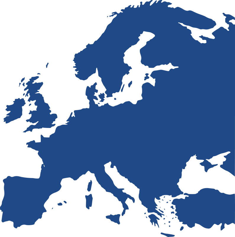 Europe map clipart free image black and white download Free Clipart: Map of Europe (equidistant) | berteh image black and white download