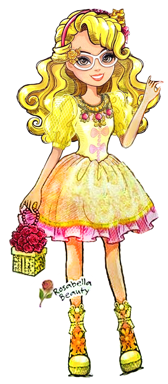 Ever after high apple white clipart clipart transparent stock Birthday Ball Rosabella Beauty rocking her yellow outfit! | Ever ... clipart transparent stock