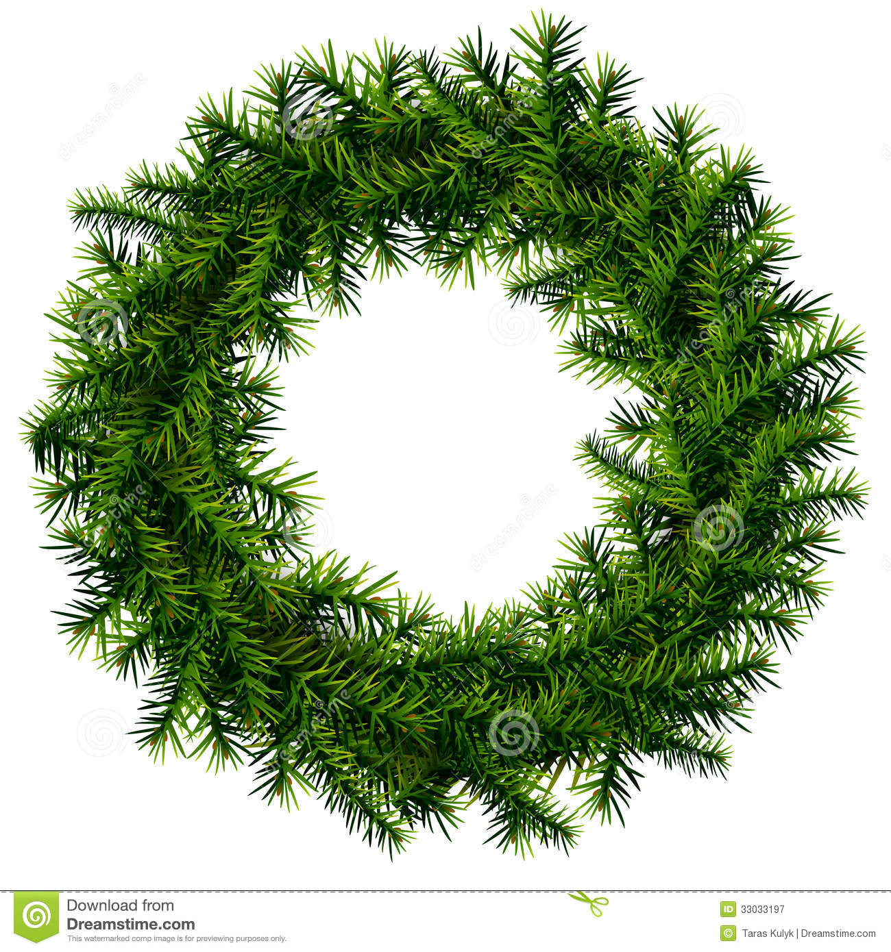 Evergeen branches clipart png transparent background image black and white download Evergreen undecorated pine wreath png clipart - ClipartFest image black and white download